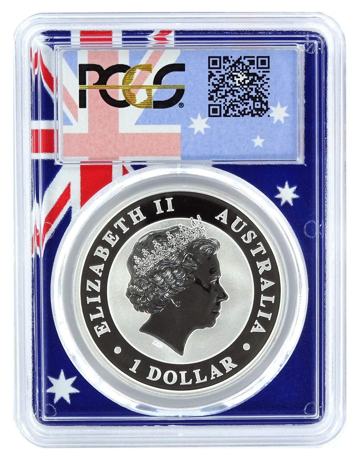 2012 P Australia 1oz Silver Koala PCGS MS69 Flag Frame