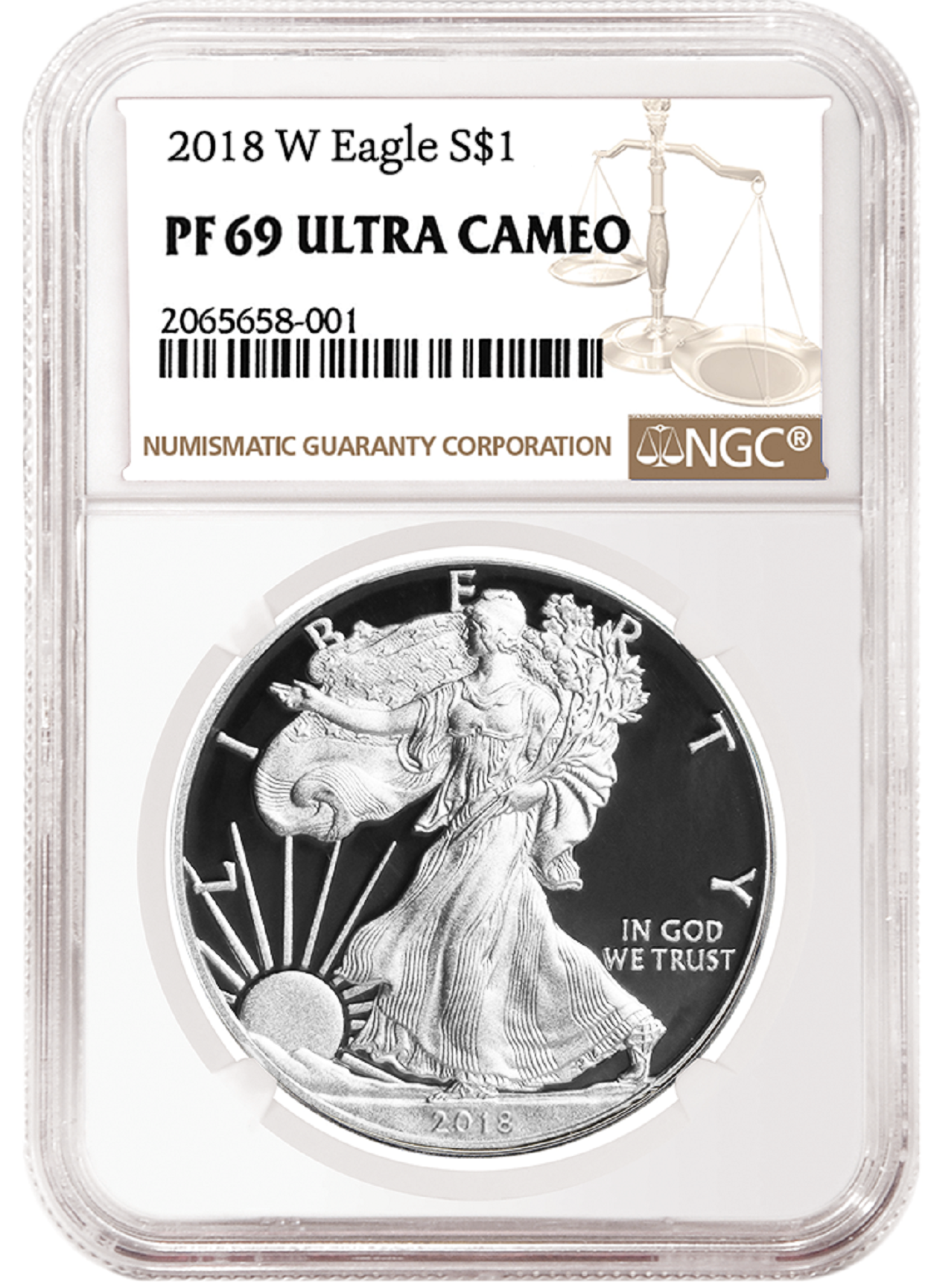 2018 W 1oz Silver Eagle Proof Ngc Pf69 Ultra Cameo Brown