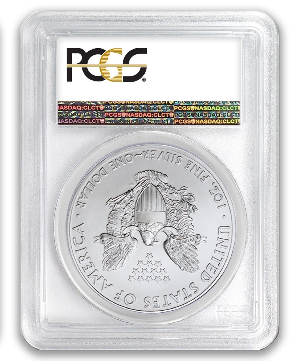 2007 1oz Silver Eagle PCGS MS69 Made In USA Label