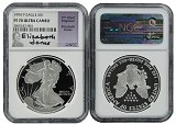 1994 P 1oz Silver Eagle Proof NGC PF70 Ultra Cameo - Elizabeth Jones Signed