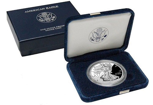 2007 W Proof 1oz Silver American Eagle
