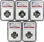 2005 S Silver Quarter Set NGC PF69 Ultra Cameo Flag Label