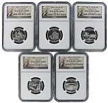 2005 S Silver Quarter Set NGC PF69 Ultra Cameo Portrait Label