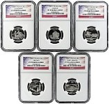 2005 S Silver Quarter Set NGC PF70 Ultra Cameo Flag Label