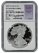 2007 W 1oz Silver Eagle Proof NGC PF70 Ultra Cameo - Elizabeth Jones Signed