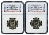 2008 John Quincy Adams Dollar Set P&D NGC MS67 First Day Issue