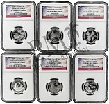 2009 S Silver Territory Quarter Set NGC PF70 UC Flag Label