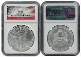 2011 (s) 1oz Struck at San Francisco Silver Eagle NGC MS70 - Flag Label