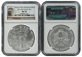 2011 (s) 1oz Struck at San Francisco Silver Eagle NGC MS70 - Trolley Label