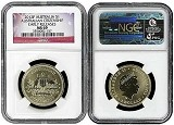 2012 P Australian Citizenship Dollar NGC MS69 Early Releases Flag Label