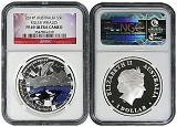 2011 Australia 1oz Silver Proof Killer Whale NGC PF69 UC Flag Label