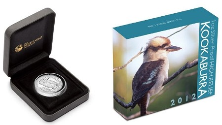 2012 Australia 1oz Silver High Relief Kookaburra Proof Coin 100 Pack