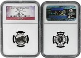 2012 P Australia 1/10th Silver Koala NGC MS70 Early Releases Flag Label