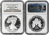 2012 S Coin & Currency Set Silver Eagle NGC PF69 UC Brown Label