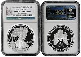 2012 S Coin & Currency Silver Eagle NGC PF69 UC Christmas Label