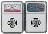 2013 P Australia 1/10th Silver Koala NGC MS69 Early Releases Flag Label