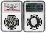 2013 P Australia 1/2oz Silver Colorized Snake NGC PF69 UC Early Releases Flag Label