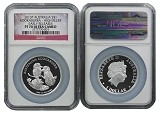 2013 Australia 1oz Silver High Relief Kookaburra NGC PF70 UC Early Releases Flag Label