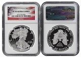2013 W 1oz Silver Eagle Proof NGC PF70 Ultra Cameo - Flag Label
