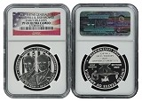 2013 P Five Star General Silver Dollar NGC PF69 Early Releases Flag Label