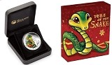 2013 P Tulalu Baby Snake 1/2oz Silver Christmas Proof Coin