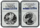 2013 W Silver Eagle 2 Coin Silver Set (S40) NGC PF69 SP69 Early Releases Blue Label
