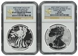 2013 W Silver Eagle 2 Coin Silver Set (S40) NGC PF69 SP69 Early Releases Star Label