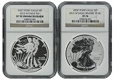 2013 W Silver Eagle 2 Coin Silver Set (S40) NGC PF70 SP70 Brown Label