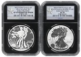 2013 W Silver Eagle 2 Coin Silver Set (S40) NGC PF70 SP70 Early Releases Black Retro Holder