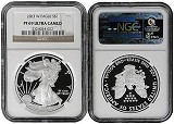 2013 W 1oz Silver Eagle Proof NGC PF69 Ultra Cameo - Brown Label