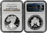 2013 W 1oz Silver Eagle Proof NGC PF70 Ultra Cameo - Brown Label