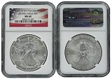 2014 (s) 1oz Struck at San Francisco Silver Eagle NGC MS69 Flag Label