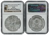 2014 (s) 1oz Struck at San Francisco Silver Eagle NGC MS69 Trolley Label
