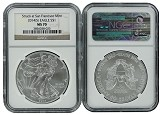 2014 (s) 1oz Struck at San Francisco Silver Eagle NGC MS70 Brown Label