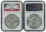 2014 (s) 1oz Struck at San Francisco Silver Eagle NGC MS70 Flag Label