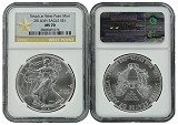 2014 (w) 1oz Struck at West Point Silver Eagle NGC MS70 - Star Label