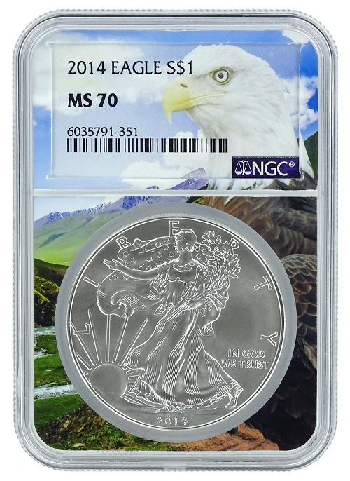 2014 1oz Silver American Eagle NGC MS70 - Eagle Core