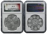 2014 Mexico 1oz Silver Onza Libertad NGC MS70 Flag Label