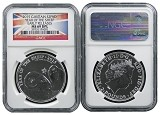 2015 Great Britain 1oz Silver Lunar Sheep NGC MS69 DPL Early Releases Flag Label