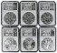 2014 Silver Eagle 6 Coin Set NGC MS70 MLB Players Series First 6 Players