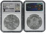 2014 Silver Eagle NGC MS69 MLB Players Series Derek Jeter