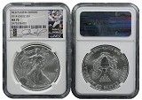 2014 Silver Eagle NGC MS70 MLB Players Series Adam Jones
