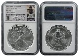 2014 Silver Eagle NGC MS70 MLB Players Series Andrew McCutchen