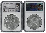 2014 Silver Eagle NGC MS70 MLB Players Series Clayton Kershaw