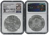 2014 Silver Eagle NGC MS70 MLB Players Series David Ortiz