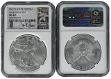2014 Silver Eagle NGC MS70 MLB Players Series Miguel Cabrera