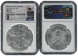 2014 Silver Eagle NGC MS70 MLB Players Series Robinson Cano