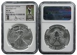 2014 Silver Eagle NGC MS70 MLB Players Series Yadier Molina