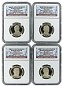 2014 S Presidential Dollar Four Coin Set NGC PF69 Ultra Cameo