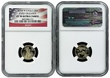 2014 W $5 Gold Eagle NGC PF70 Ultra Cameo Early Releases Flag Label